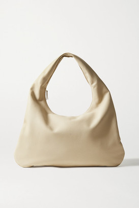 The Row Everyday Textured-leather Shoulder Bag - Beige