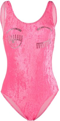 Chiara Ferragni Flirting velvet swimsuit