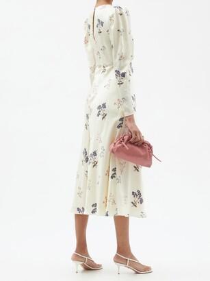 Self-Portrait Crystal-embellished Floral-print Midi Dress - Ivory Multi
