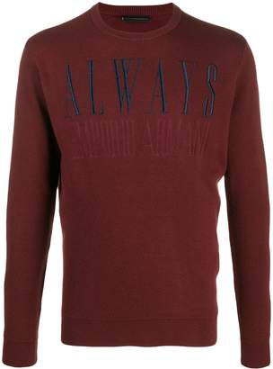 Emporio Armani embroidered 'always' jumper