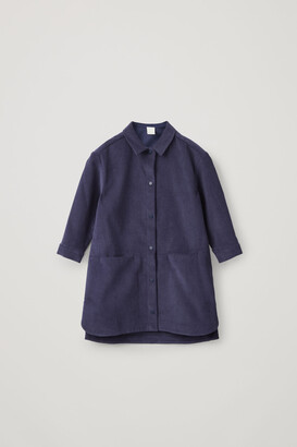 Cos Cotton Corduroy Shirt Dress