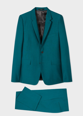 Paul Smith The Kensington - Men's Slim-Fit Teal 'A Suit To Travel In'