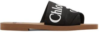 Chloé Black Woody Flat Sandals