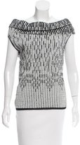 Roland Mouret Two-Tone Knit Top w/ Tags
