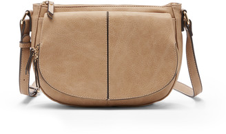 Sole Society Women's Kofi Crossbody Vegan Bag Leather Crossbody Mushroom Vegan Leather From