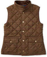 Ralph Lauren Quilted Tweed Snap-Front Vest