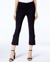 INC International Concepts Petite Bow-Detail Cropped Capri Pants, Created for Macy's