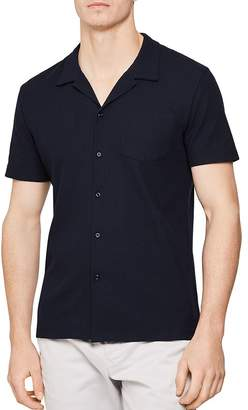 Reiss Reeves Ribbed Cotton Regular Fit Button-Down Shirt