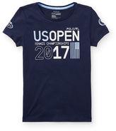 Ralph Lauren 7-16 Us Open Cotton Graphic Tee