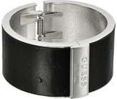 GUESS Wide Hinge Faux Ostrich Logo Bangle