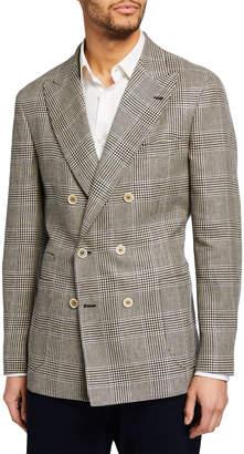 Brunello Cucinelli Men's Two-Button Linen-Blend Jacket