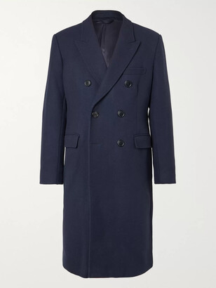 Vetements Double-Breasted Virgin Wool-Blend Coat
