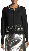 Nanette Lepore Carnival Pearly Beaded Cardigan Sweater