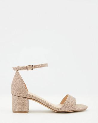 Le Château Glitter Open Toe Ankle Strap Sandal
