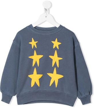 The Animals Observatory Bear star-print cotton sweatshirt