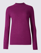 Classic Funnel Neck Long Sleeve Jumper