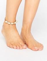 Orelia Ibiza Shell Chain Anklet