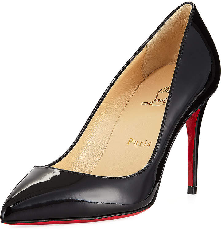 meet b2aa9 23c84 Pigalle Follies 85mm Patent Red Sole Pumps
