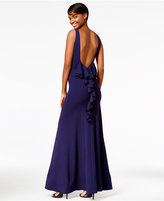 Sequin Hearts Juniors' V-Back Ruffled Gown, A Macy's Exclusive Style
