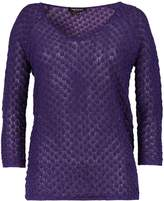 Morgan Glittery-knit leaf-patterned sweater