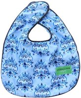 Caden Lane Luxe Collection Bib Set, Damask Blue, 2-Count by