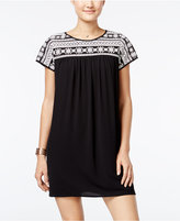 Trixxi Juniors' Embroidered Shift Dress