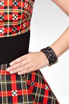 Alexis Bittar Large Quilted Bracelet in Black