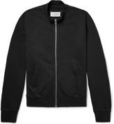 Maison Margiela Leather Elbow-Patch Loopback Cotton-Jersey Zip-Up Sweatshirt