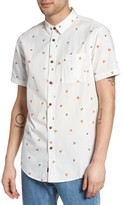 Globe Men's Pizza Print Woven Shirt