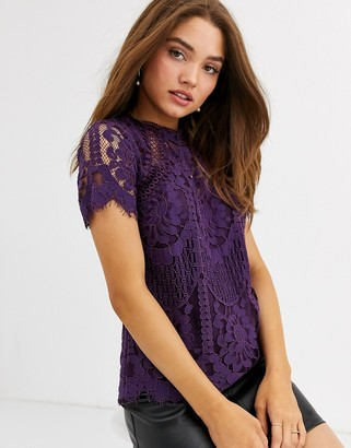 Lipsy lace top in purple