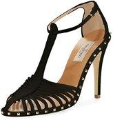 Valentino Soul Stud T-Strap Leather Sandal