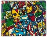Marvel Official All Over Character Print Bi-fold Wallet - Captain America Hulk