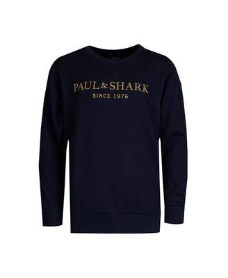 Paul And Shark Junior Gold Logo Sweat Colour: NAVY, Size: Age 10