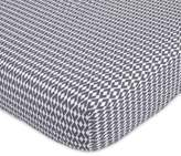 Petunia Pickle Bottom Southwest Skies Fitted Crib Sheet in Grey/White