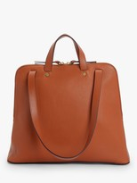 John Lewis & Partners Leather Shoulder Work Bag