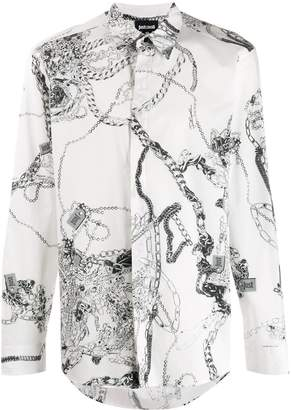 Just Cavalli chain print shirt