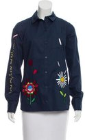 Mira Mikati Embroidered Button-Up Shirt w/ Tags