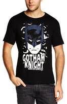 Logoshirt Men's Easy Fit Batman-Gotham Knight Crew Neck Short Sleeve T-Shirt