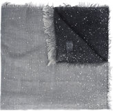 Faliero Sarti contrast fringed scarf