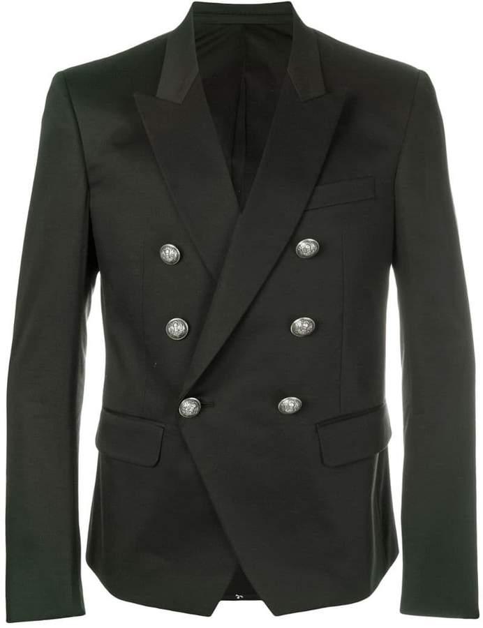 Balmain embellished button blazer