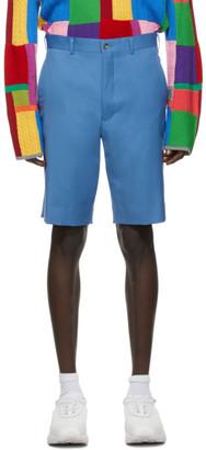 Comme des Garçons Homme Plus Blue Wool Gabardine Shorts