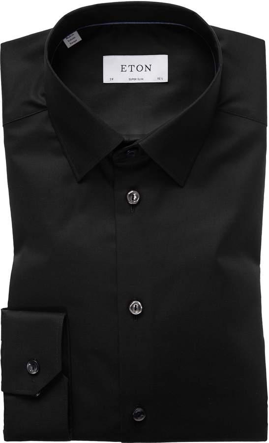Eton Super Slim Fit Solid Dress Shirt