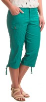 Specially made Stretch-Woven Cargo Capris (For Women)