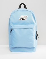 New Balance Classic Logo Backpack In Blue