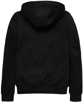 adidas Girls Full Zip Hoodie - Black