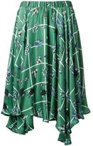 Julien David robot print skirt