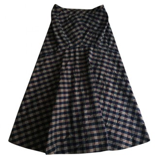 Issey Miyake Blue Cotton Skirts