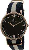 Kapten And Son Men's Campus CAMPUS-BLACK-SAIL-ROSE -40MM Rose Nylon Quartz Watch