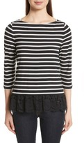 Kate Spade Women's Lace Flounce Stripe Top