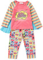 Sweet Heart Rose Little/Big Girls 2T-10 Girl Power Top, Printed Pants, & Cape Pajama Set